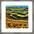 #9 At Chambers Bay Golf Course - Location Of The 2015 U.s. Open Tournament Framed Print by David Patterson