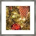 Christmas Tree Ornaments Framed Print