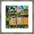 93 Degrees On The Eel Framed Print by Charlie Spear