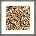 9mm Brass Ammo Framed Print