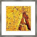 A As In Alphabet  Framed Print