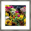 A Bouquet Of Flowers  Framed Print