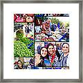 A Collage Of The Fresh Market In Kusadasi Turkey Framed Print