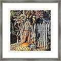 A Fall Scarecrow Display Framed Print