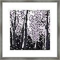 A Forest Silhouette Framed Print
