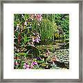 A Glimpse Of Monet's Pond At Giverny Framed Print