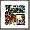 A Gourmet Cover Of A Fruit Basket Framed Print
