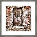 A Locked Door Framed Print by H Hoffman