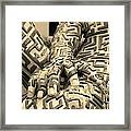 A Maze Ing Man 4 Sepia Framed Print