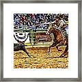 A Night At The Rodeo V10 Framed Print