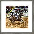 A Night At The Rodeo V21 Framed Print