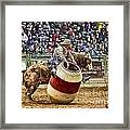 A Night At The Rodeo V9 Framed Print