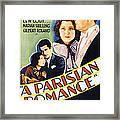 A Parisian Romance, Us Poster Art Framed Print