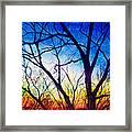 A Primary Sunset Framed Print