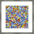 A Riot Of Shapes Framed Print