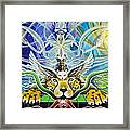 A Shaman's Journey Through The Heart Of The Sun Framed Print by Morgan  Mandala Manley