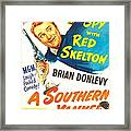 A Southern Yankee, Us Poster, Red Framed Print
