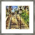 A Stairway In Montmartre Framed Print