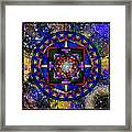 A Surrealistic Mandala Framed Print
