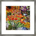 A Table Of Flowers Framed Print