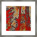 A Touch Of Autumn Abstract Vi Framed Print