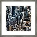 A View From The Empire State Building Framed Print