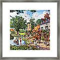 A Village In Summer Framed Print