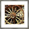 A Wagon Wheel Framed Print