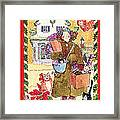 A Whiskers And Piper Christmas Framed Print