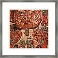 Aborigine Carved Figure Framed Print