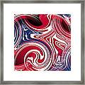 Abstract American Flag Framed Print