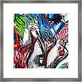 Abstract Apple Heart Framed Print