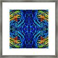 Abstract Art - Center Point - By Sharon Cummings Framed Print