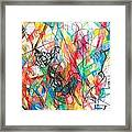 Abstract Art Focused Inward Towards The Divine 4 Framed Print