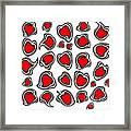 Hearts Black White Red No.386. Framed Print by Drinka Mercep