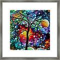 Abstract Art Original Colorful Landscape Painting A Moment In Time By Madart Framed Print