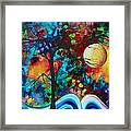 Abstract Art Original Enormous Bold Painting Essence Of The Earth I By Madart Framed Print by Megan Duncanson