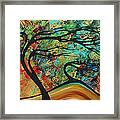 Abstract Art Original Landscape Wild Abandon By Madart Framed Print