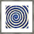 Abstract Blue Swirl Framed Print