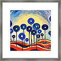 Abstract Blue Symphony  Framed Print
