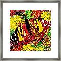 Abstract Butterfly #3 Autumn Framed Print