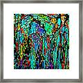 Abstract Color Falls Framed Print