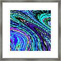 Abstract Color Flow Framed Print