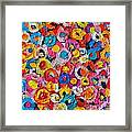 Abstract Colorful Flowers 1 - Paint Joy Series Framed Print
