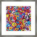 Abstract Colorful Flowers 3 - Paint Joy Series Framed Print