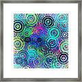 Abstract Colorful Rings Framed Print