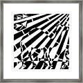 Abstract Distortion Camel Maze  Framed Print