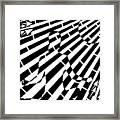 Abstract Distortion Sun Meditation Maze  Framed Print
