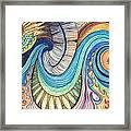 Abstract Dragon Framed Print
