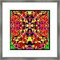 Abstract Floral Duvet Framed Print